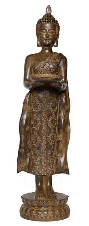 Stehende Buddhafigur 50 cm mit Schale