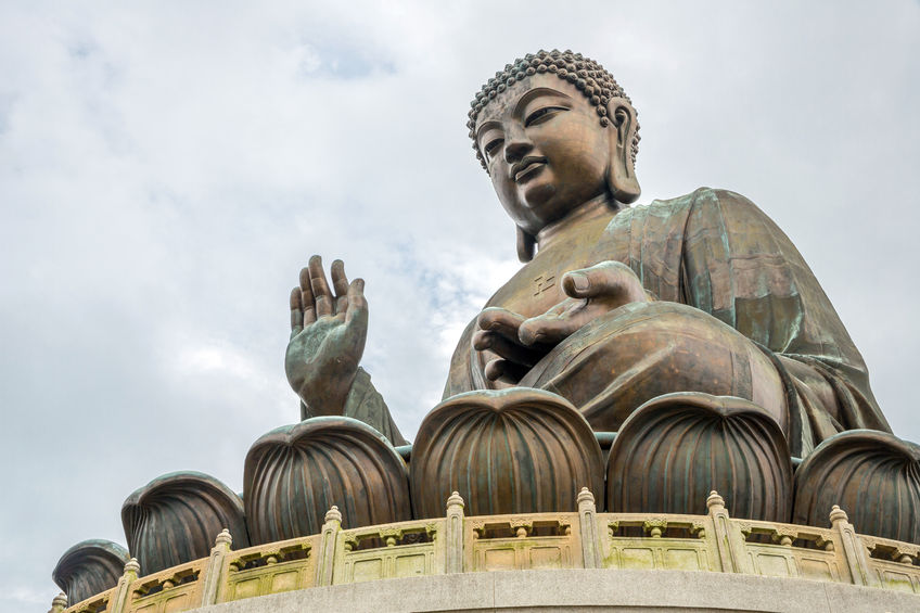 Der giagantische Tian Tan Buddha